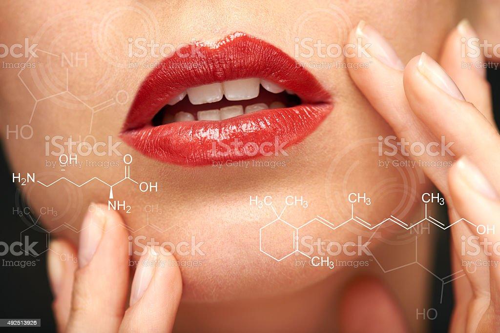 Lip enhancement stock photo