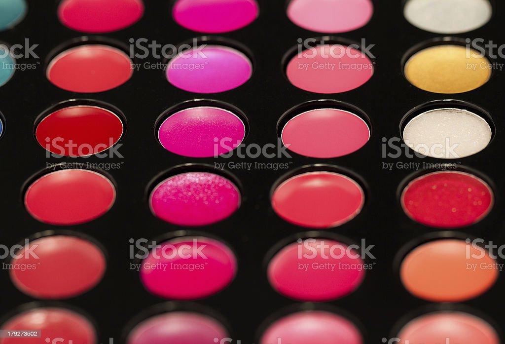 Lip gloss palette royalty-free stock photo