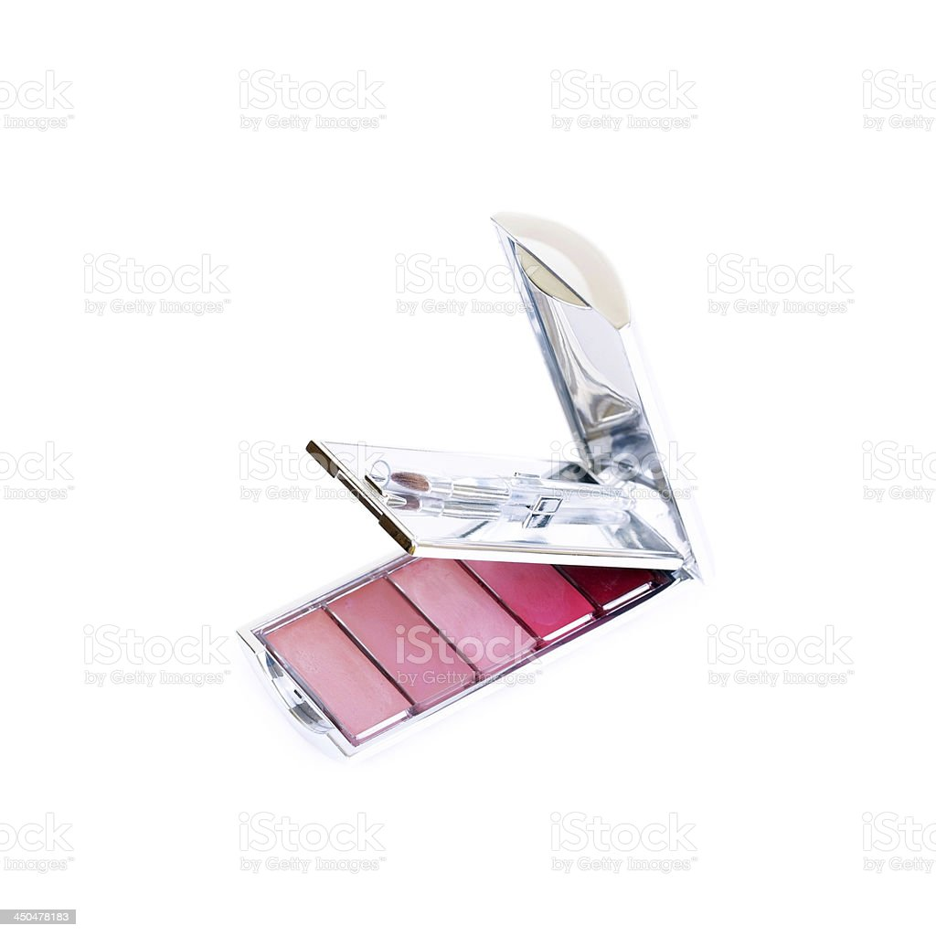 Lip gloss palette royalty-free stock photo