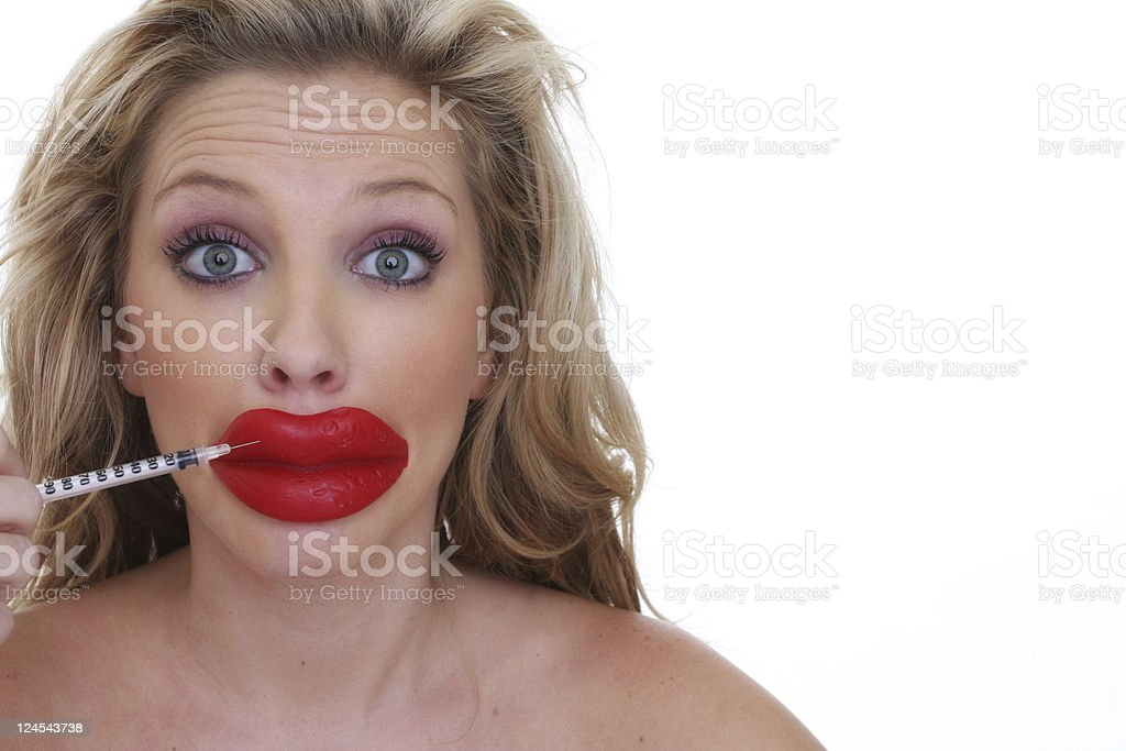 lip injections royalty-free stock photo