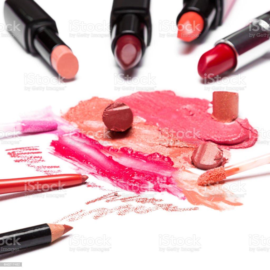Lip makeup cosmetics stock photo