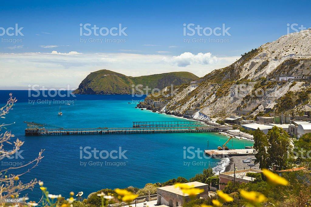 Lipari Island stock photo