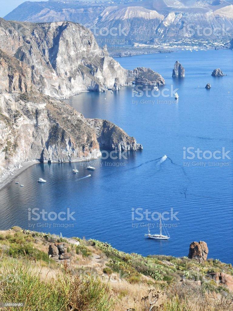 Lipari island,Sicily,Italy stock photo