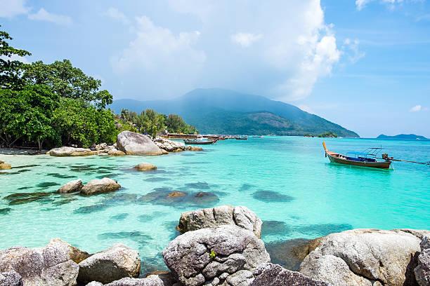 Lipe island tourist attraction wonderful famous stock photo