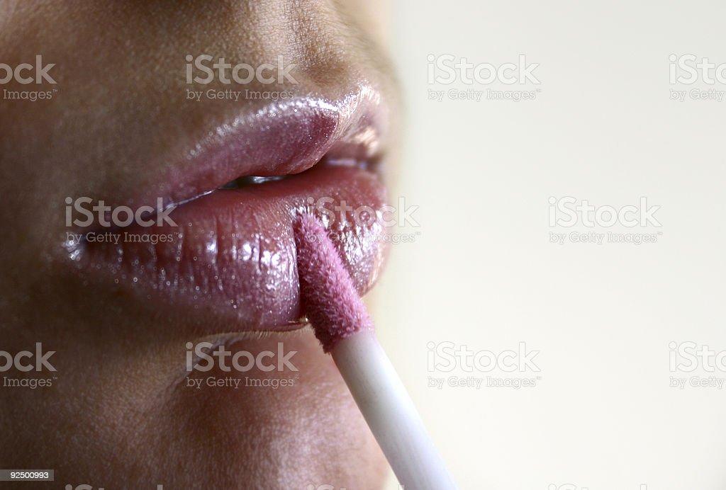 Lipgloss with 'diamonds' royalty-free stock photo