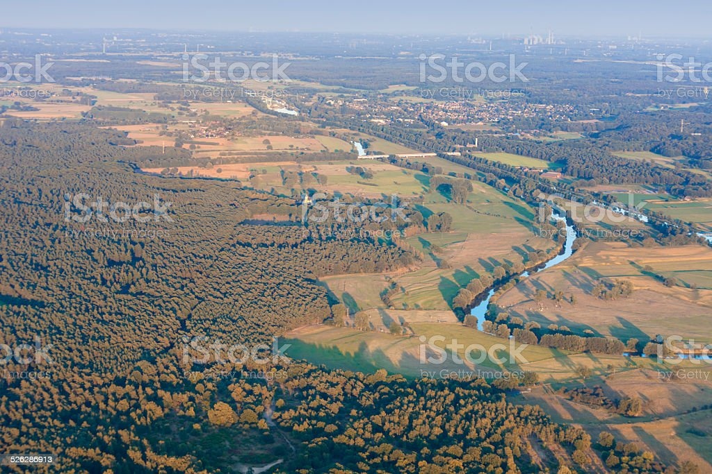 Lippe River and Wesel-Datteln-Kanal in Germany stock photo