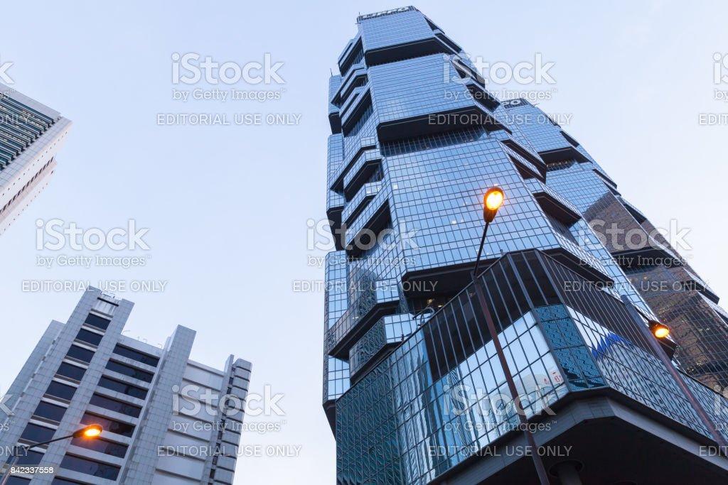 Lippo Centre towers, Hong Kong stock photo