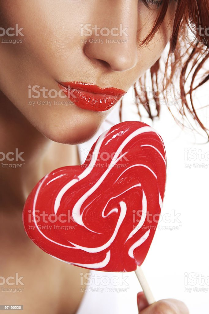 lips and candy royalty-free stock photo
