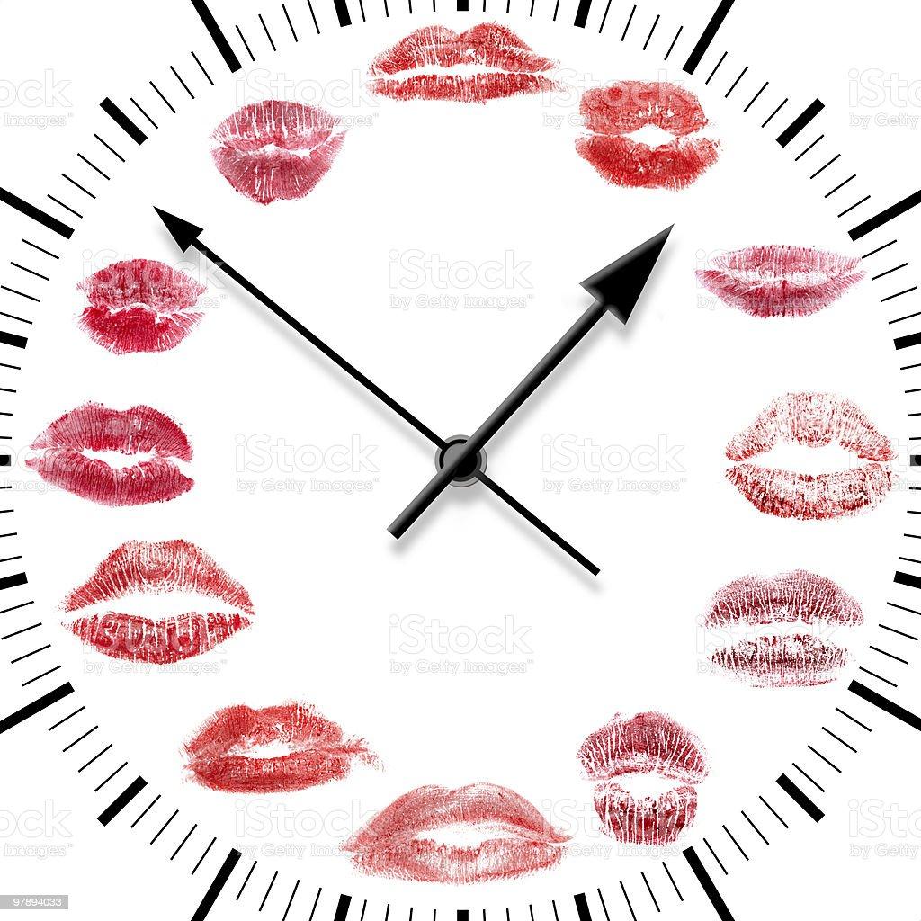 lips clock royalty-free stock photo