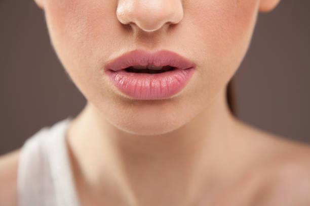 lips closeup - milan2099 stock photos and pictures
