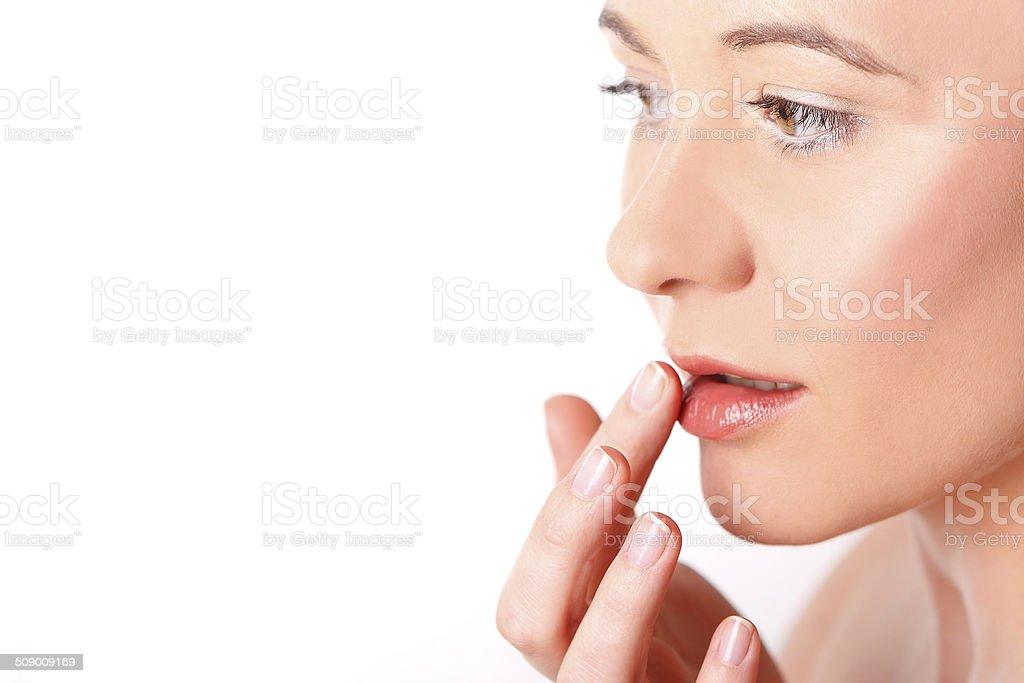 Lippen eine junge Frau – Foto