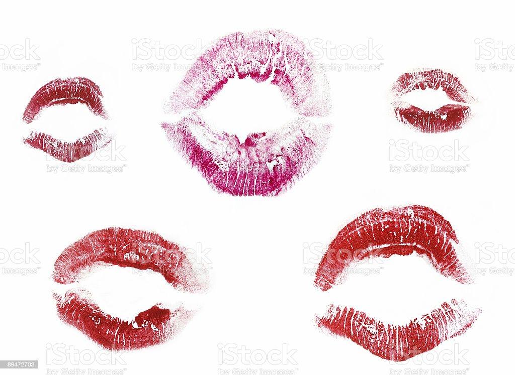 Lips set royalty-free stock photo