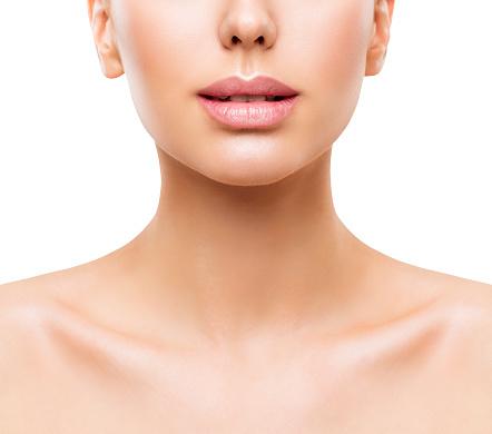 lips woman face beauty mouth and neck skin closeup women