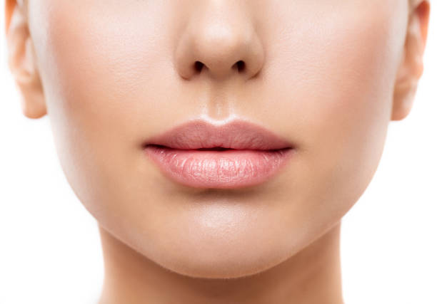 Lips, Woman Face Mouth Beauty, Beautiful Skin and Full Lip Closeup, Pink Lipstick Lips, Woman Face Mouth Beauty, Beautiful Skin and Full Lip Closeup, Pink Lipstick full stock pictures, royalty-free photos & images