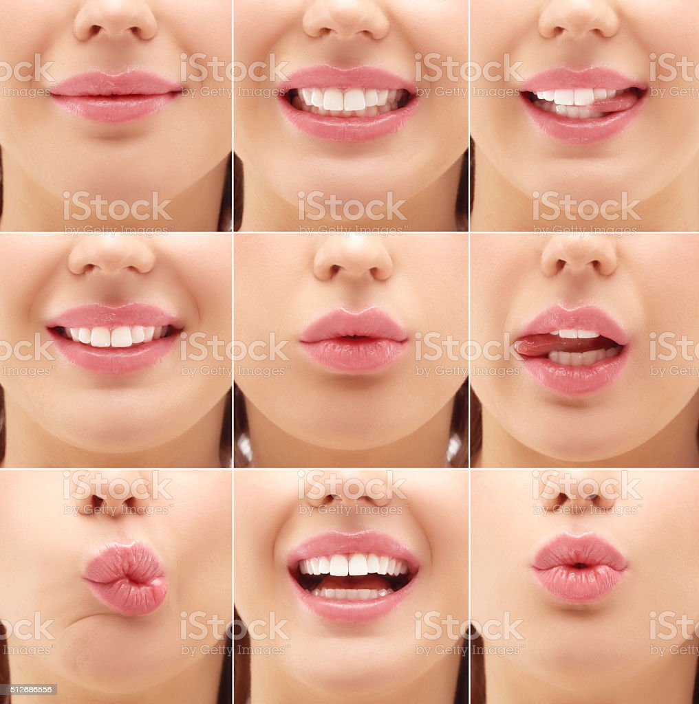 Lips.Gimace stock photo