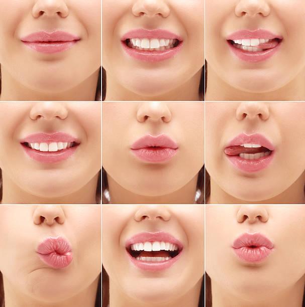 Lips.Gimace stock photo