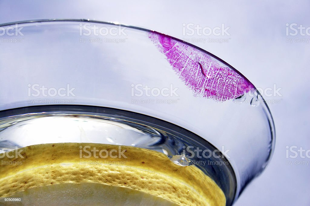 Lipstick Cocktail royalty-free stock photo
