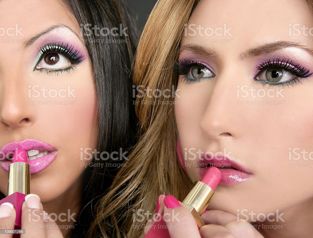 Lipstick fashion girls barbie doll makeup retro 1980s royalty-free stock photo