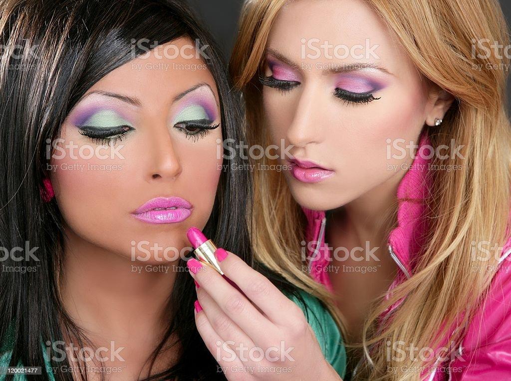 Lipstick Fashion Girls Barbie Doll Makeup Retro 1980s Stock Photo