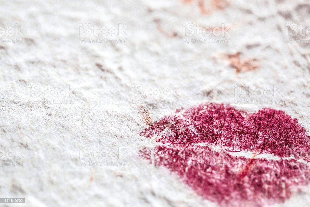 Lipstick Kiss royalty-free stock photo