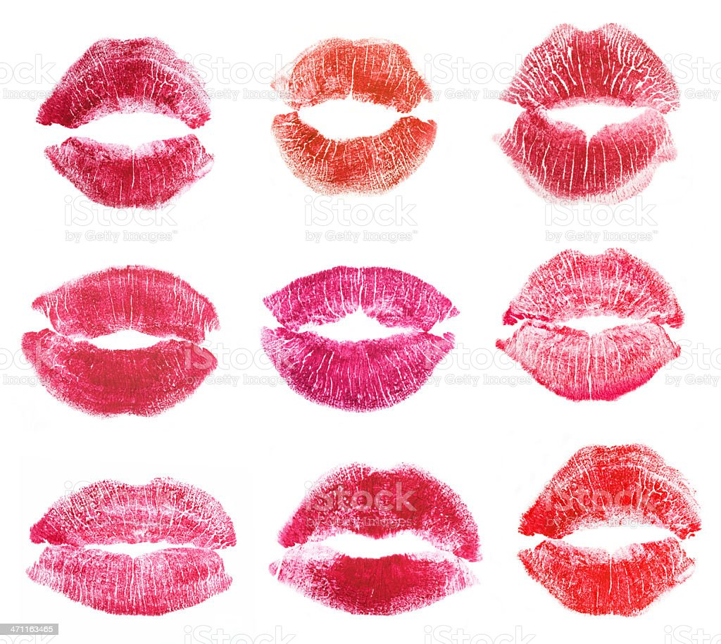 Lipstick Kisses stock photo
