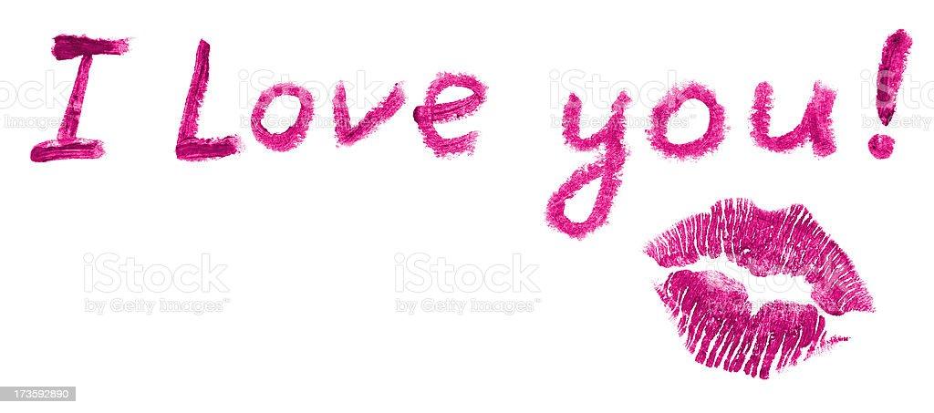 Lipstick love letter stock photo