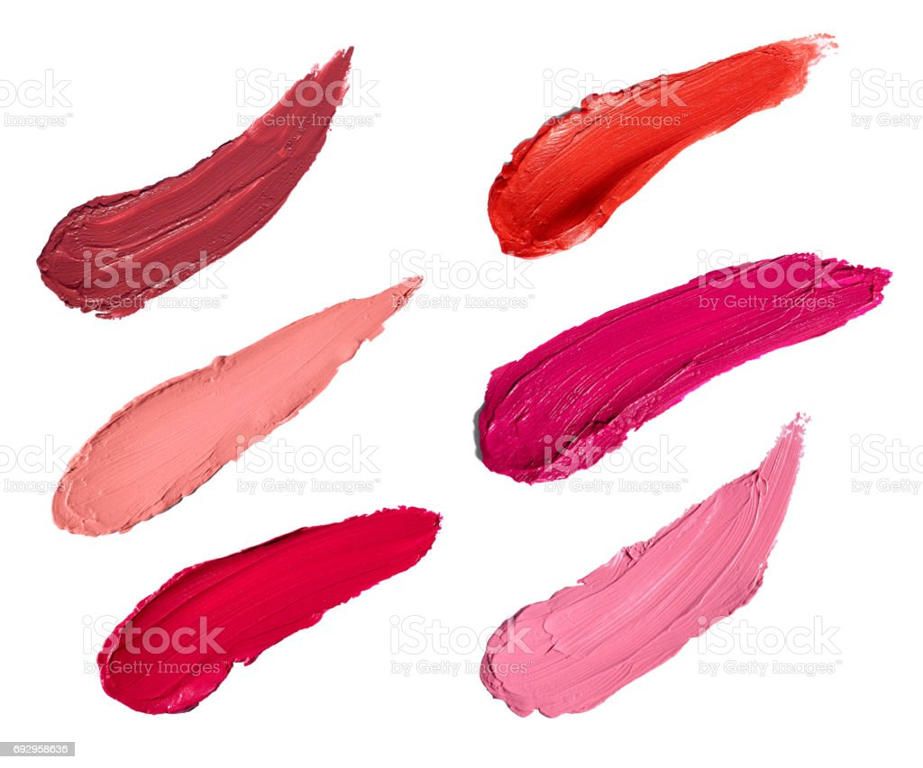 lipstick nail polish beauty make up cosmetics stock photo