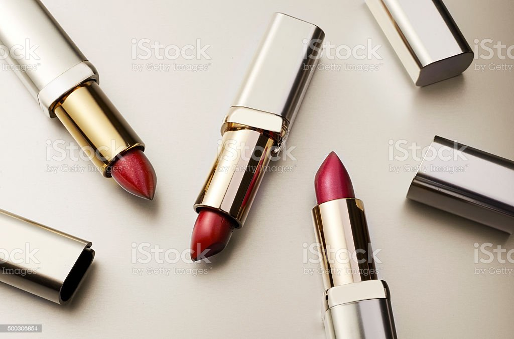 Lipstick red stock photo