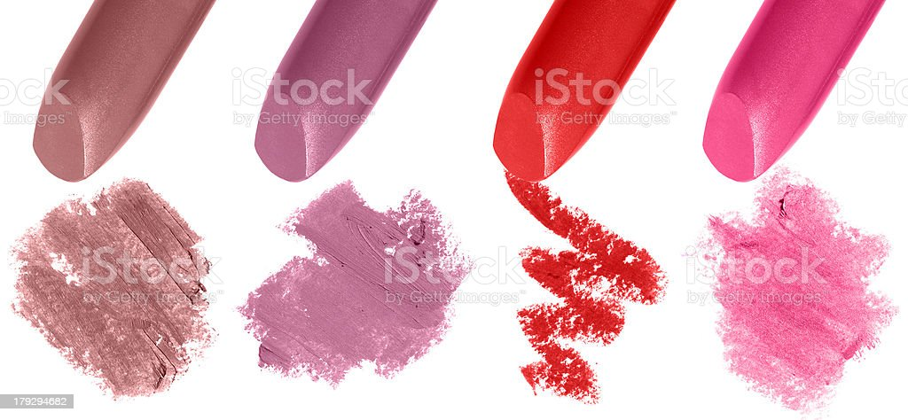 Lipstick Samples royalty-free stock photo