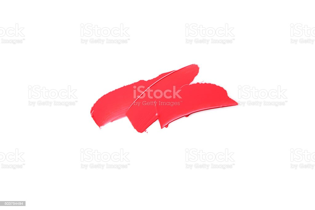 Lipstick Smeared stock photo