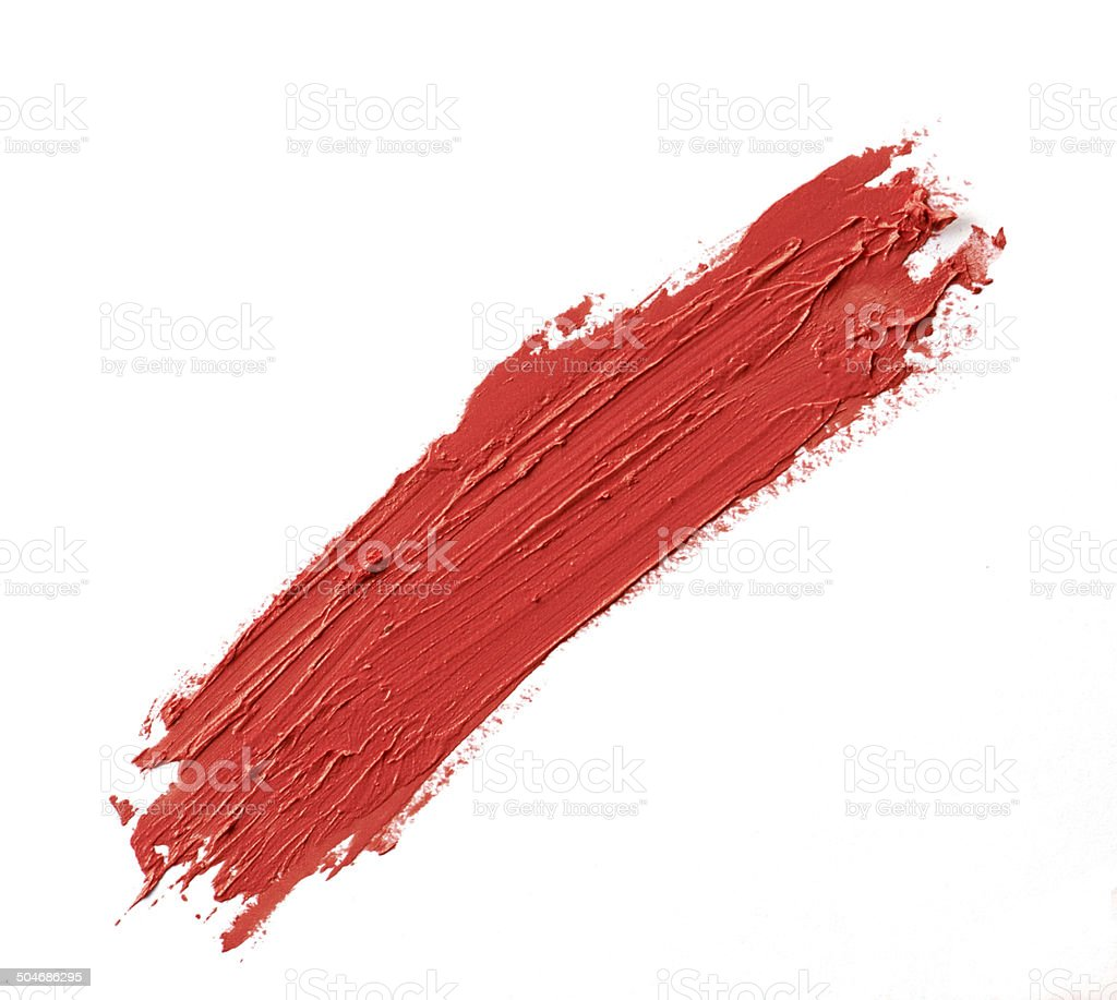 Lipstick stroke on white paper stock photo