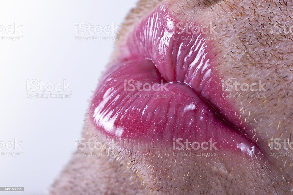 Lipstick & Stubble 2 stock photo