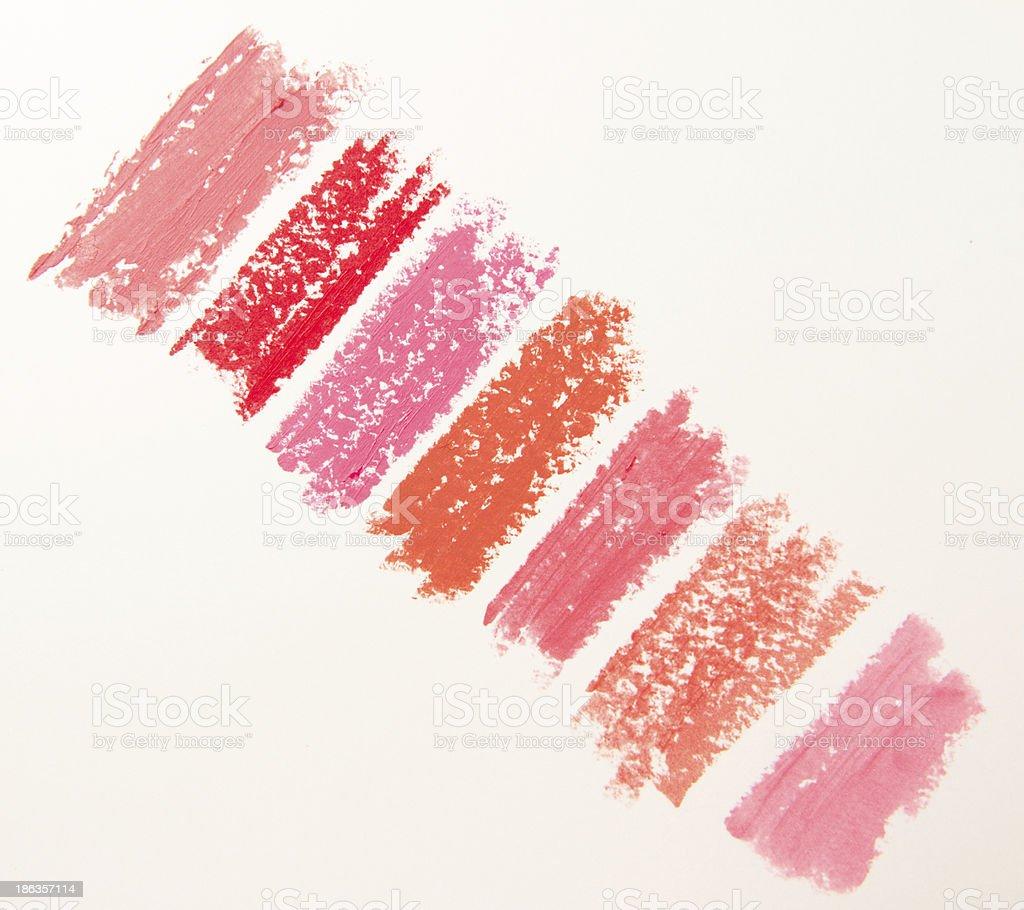 Lipstick Swatches royalty-free stock photo