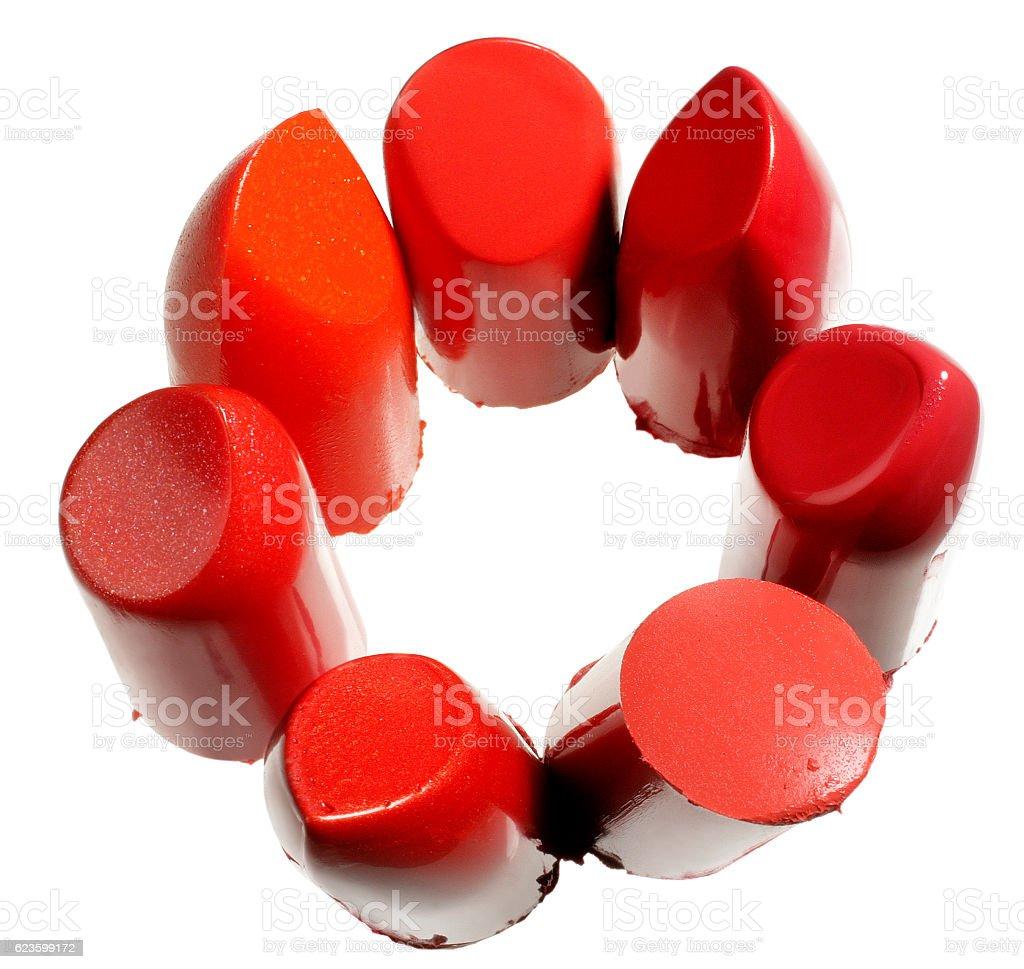lipsticks, rouges à lèvre - foto de acervo