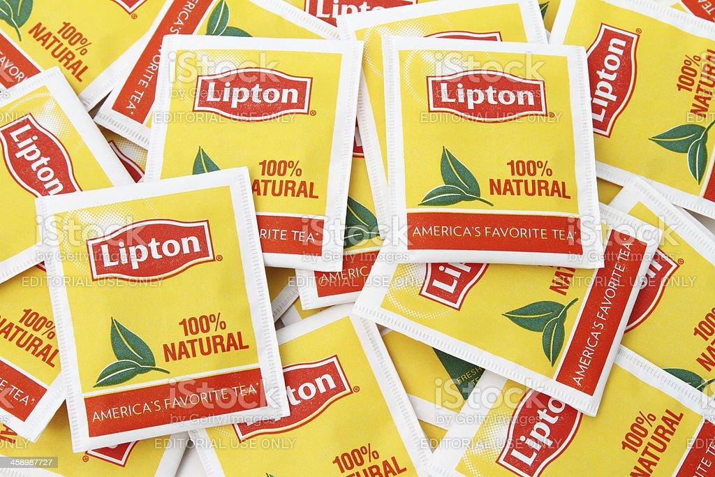 Lipton Tea Bags stock photo