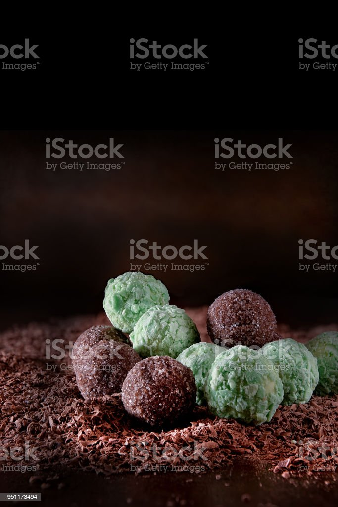 Liqueur Chocolates stock photo