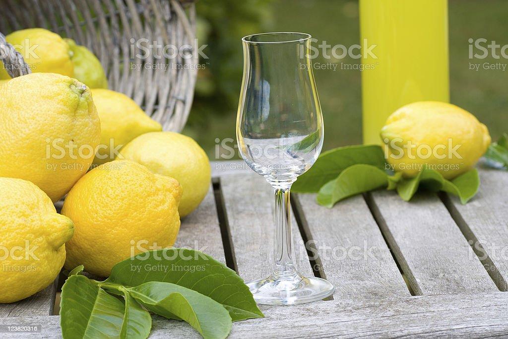 Liqueur glass royalty-free stock photo