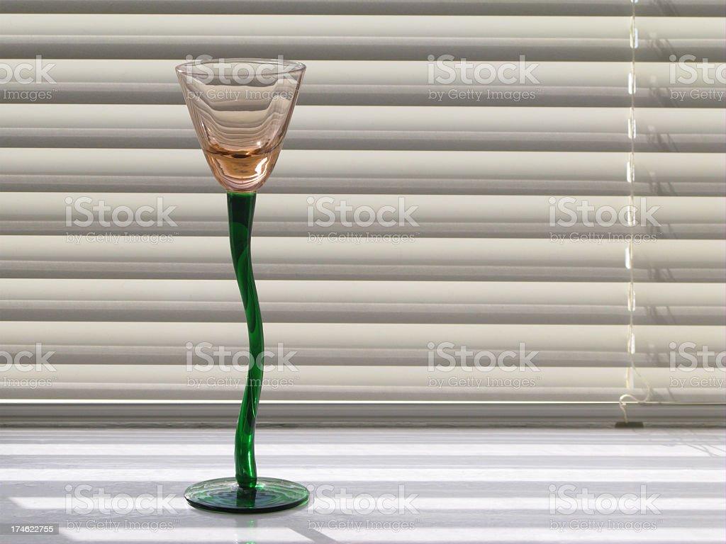 Liqueur glass. royalty-free stock photo