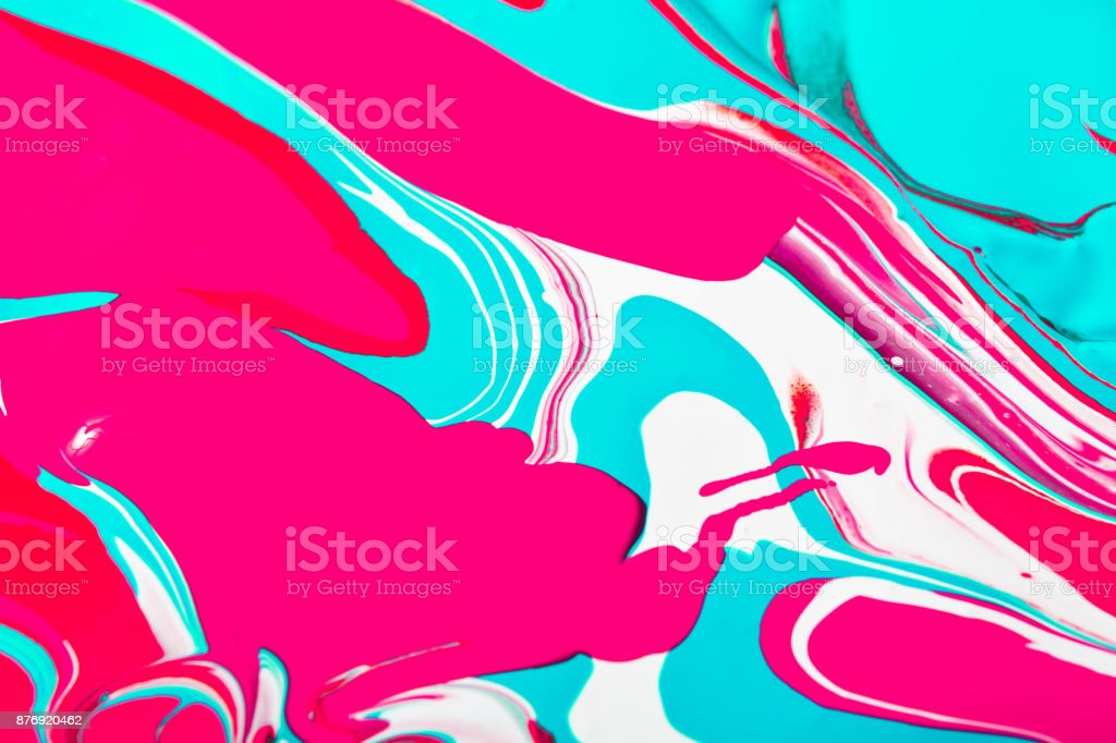 Liquid acrylic paint background. Fluid painting abstract texture stock photo