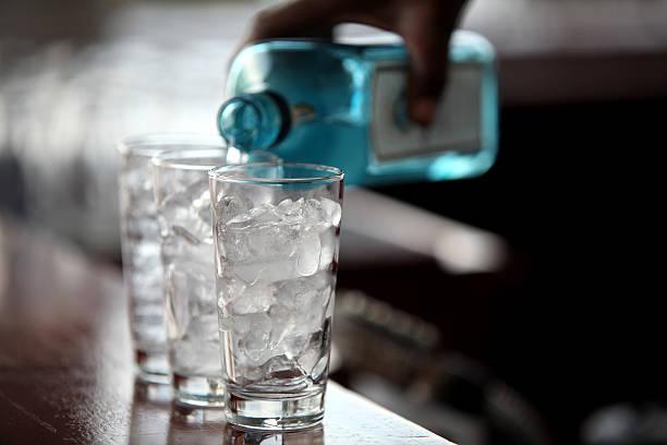 Liquide et de glaçons - Photo