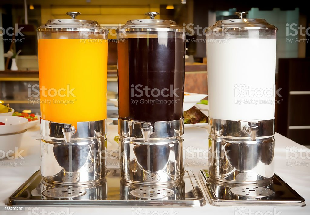 liquid beverage dispensers stock photo