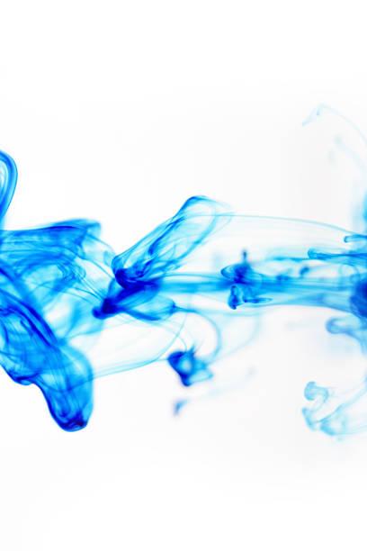 Liquid Blue Abstract stock photo