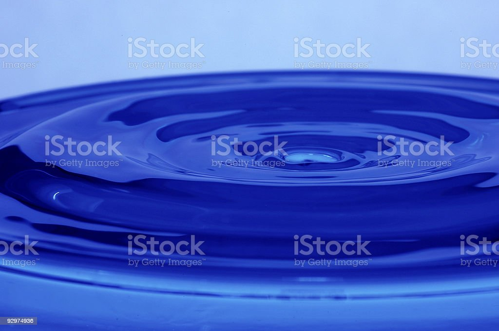 Liquid blue royalty-free stock photo
