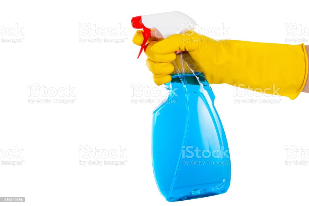 Liquid cleaner on isolated background royalty free stockfoto