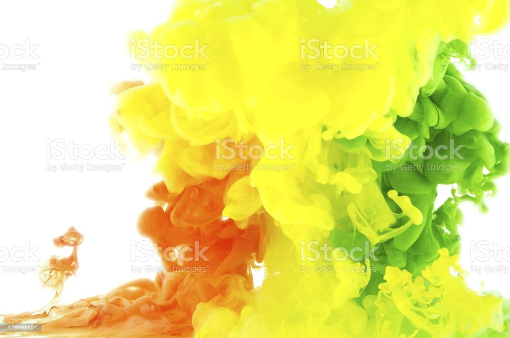 Liquid color in motion-abstraction royalty-free stock photo