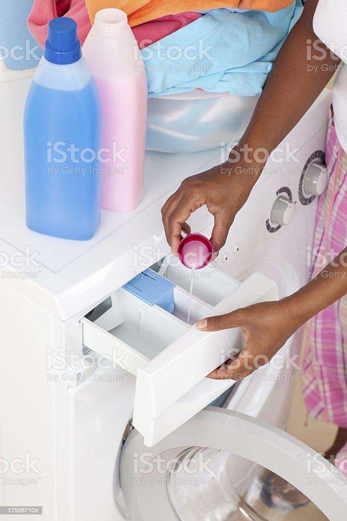 Liquid detergent. stock photo