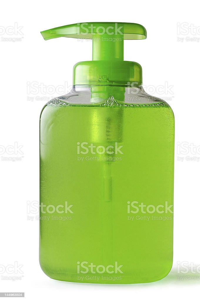Liquid dispenser bottle with clipping path royalty-free stock photo