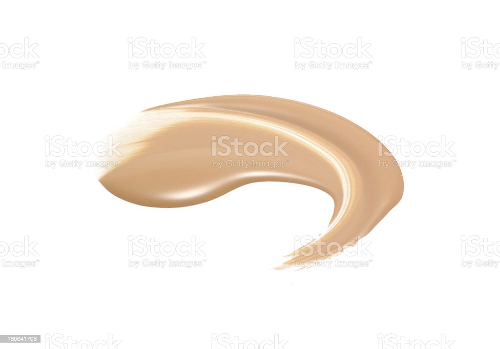 Liquid face foundation spread on white background  royalty-free stock photo