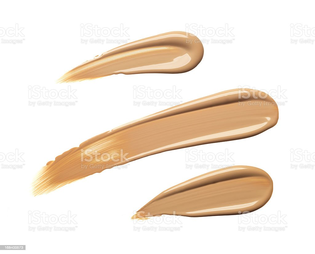 Liquid foundation royalty-free stock photo