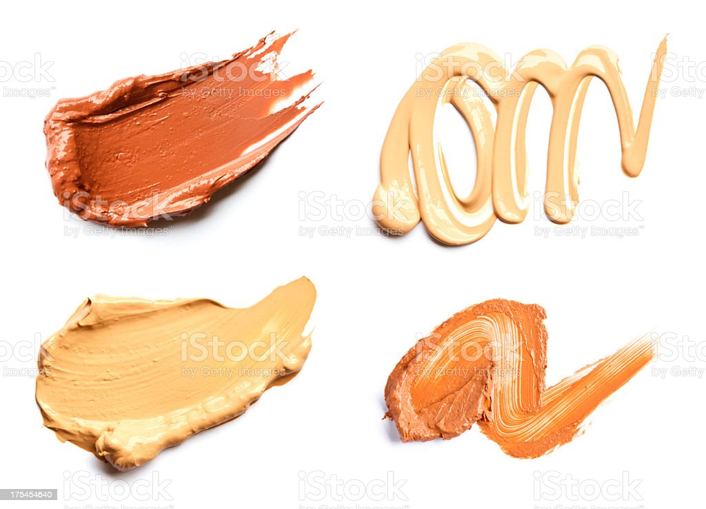 Liquid Foundation smear royalty-free stock photo